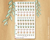 MAY 17 - Watercolor Stickers Perfectly Fitting Your Kikki.K medium or Filofax Personal For Spring Times : 84 Beverages Stickers