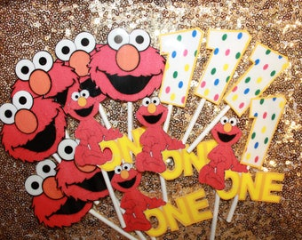 Elmo Cup Cake Toppers (12 pieces)