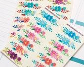 28 floral banner stickers, box topper stickers, transparent planner stickers, floral sticker, eclp filofax happy planner kikkik