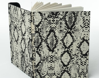 "PAPER PYTHON | 120 ~5.5x4"" blank pages with clasp closure 