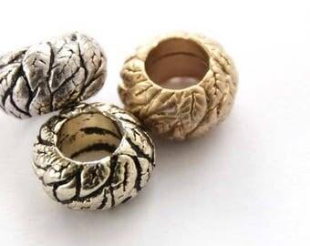 round skin leaf rondelle bead pendant,round skin leaf charm necklace bracelet anklet jewelry,round leaf charm for women teens girls AC417