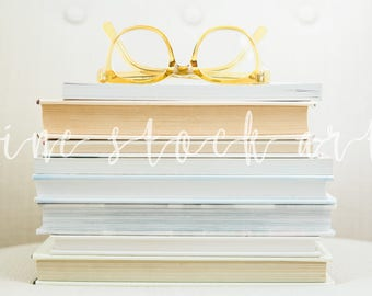 Stacked Books Stock Image | Instant Download for Bloggers