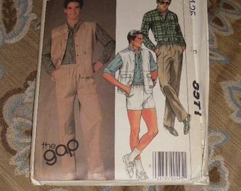 "Vintage 1984 McCall's Men's Pattern Shorts, Pants, Shirts ""The Gap"" Size Medium"
