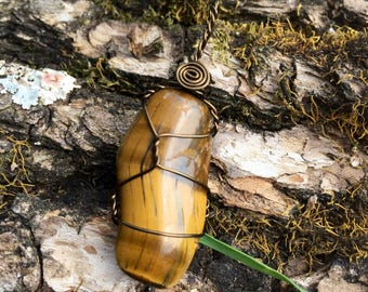 Tiger's Eye Necklace of Balance and Creativity