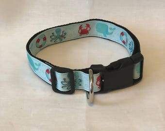 L,XL Under The Sea Dog Collar