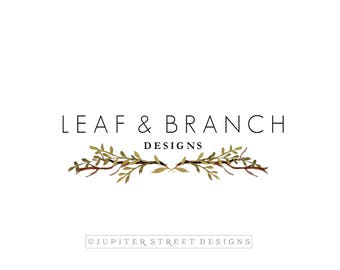 Leaf Logo-Laurel Logo-Branch Logo-Nature Logo-Small Business Logo-Branding