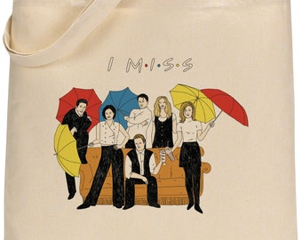 I MISS FRIENDS tote bag