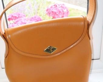 Vintage Handbag Tan Leather