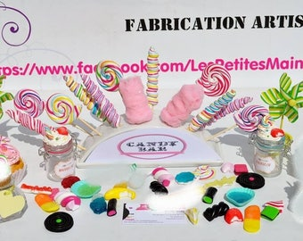 Realization on demand with fake candy for candy bar or candy name choice