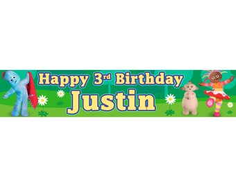 2 x In the Night Garden Personalised Birthday Banner, custom, party,
