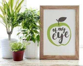 Apple of My Eye Illustration   Custom Artwork   Printable PDF