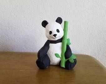 Ceramic Panda Bear with bamboo (#907)