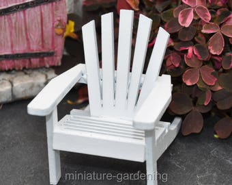 Classic Adirondack Chair for Miniature Garden, Fairy Garden