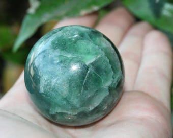 Fluorite Sphere Purple Green Polished Crystal