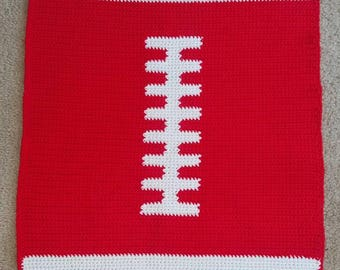 Custom made football baby blankets