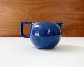 Sasaki Colorstone creamer / minimalist stoneware designed by Massimo Vignelli / sapphire blue