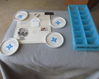 Lot of 8 Vintage Sperry Univac Items Ice Tray, Coasters, Key Ring, First Day of Issue - Feb 13, 1985, Magnet