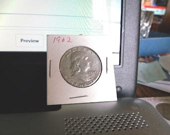 1962-P Ben Franklin half dollar Vg condition 90% silver