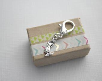 Mermaid Planner Charm / Planner Accessory / Keychain Clip / Zipper Charm / Mermaid Charm / Travelers Notebook Charm / Stocking Stuffer