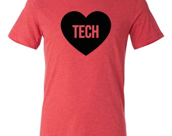 Texas Tech Heart Love T-shirt