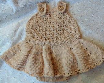 Hand knit/crochet dress from 3-12 months *Free Shipping
