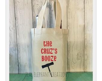 BYOB canvas wine bags