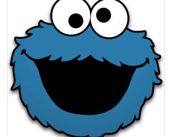 Cookie Monster SVG Download,SVG Downloads,SVG Files,Cookie Monster,Vinyl cutting machine designs,Silhouette svg designs,Scan n Cut files