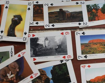 Souvenir Playing Cards Australian Red Centre - 54 Different Scenes!
