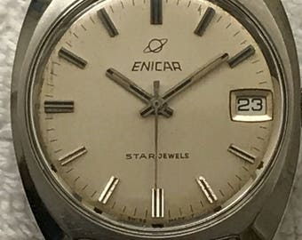 Vintage Enicar Stainless Steel Watch