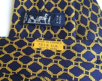 Hermes vintage blue tie