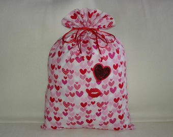My love pouch with a thousand hearts