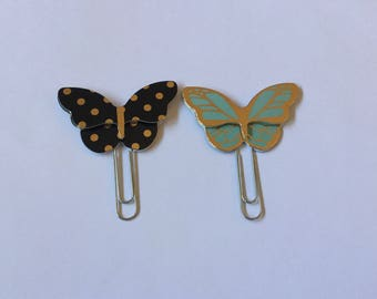 Butterfly planner clips, paper clips, butterfly bookmark, planner marker