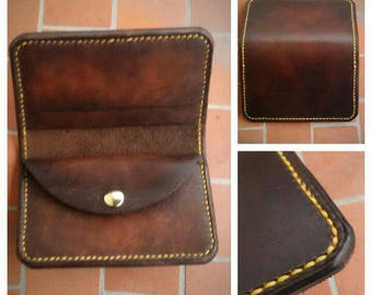 Plain wallet Dark brown