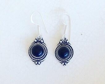 Brass Earrings . Onix  earrings. Tribal Earrings. Brass  Earrings. Boho earrings. Ethnic earrings.