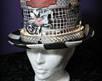 Steampunk Light Up Carousel Top Hat