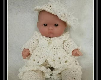 Mini baby in a beautiful romantic outfit