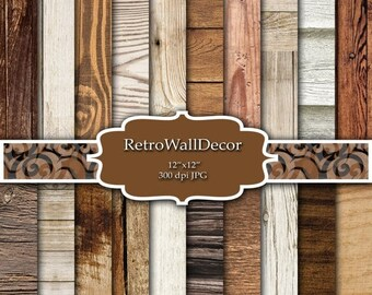 30%OFF Rustic Wood Digital Paper Set with distressed wood textures ,  Distressed Wood , Rustic Wood , Digital paper pack 12x12 Buy 2 Get 1 F