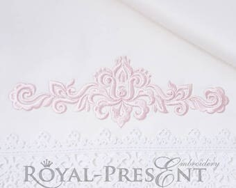 Machine Embroidery Design Ornamental Elegant Decor - 3 sizes