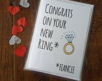 Congrats on your new ring - engagement card