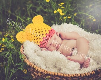 Winnie-the-Pooh Crocheted Hat - Baby