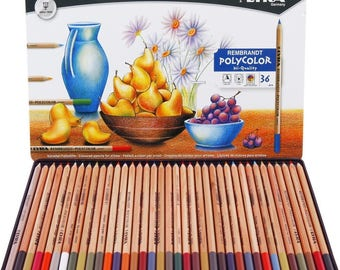 Set of 36 LYRA Rembrandt Polycolor Art  Color Pencils,