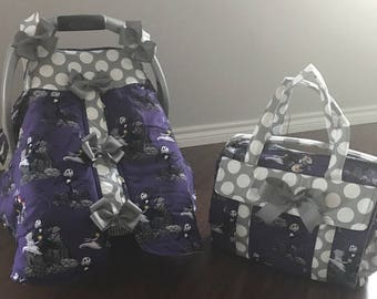 Nightmare before Christmas diaper bag and canopy