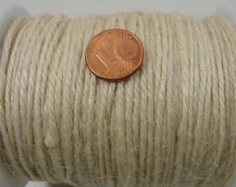 5 mètres FIL fibre JUTE 1,3mm ECRU Loisirs déco