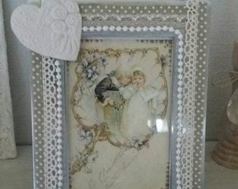 Frame, shabby romantic decor