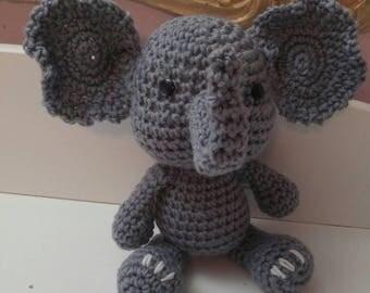 Handmade crochet elephant stuff toy