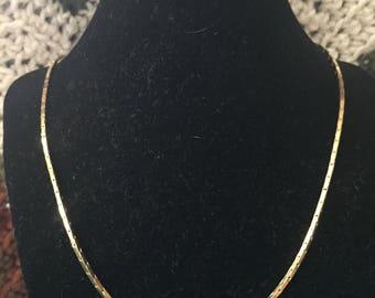 Vintage Goldtone Chain Design Necklace, Length 30''