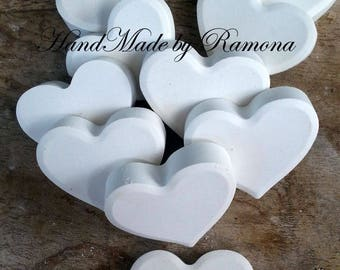 3.8 x 3 CM SCENTED CHALKS HEART PLACE CARD WEDDING favors