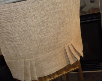 Burlap Jute Pleated Chair Back Cover, Dining, Rustic Country Kitchen, Bar  Stools, Part 70