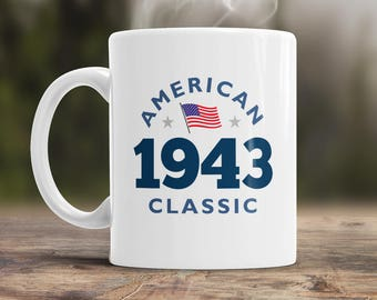 75th Birthday, 1943 Birthday, 75th Birthday Gift, 75th Birthday Idea, American Classic 1943, 75th Birthday Present for the lucky 75 year old