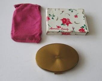 Vintage American Beauty Compact Unused Original Box